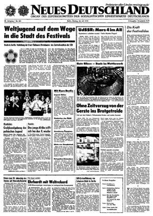 nd archiv neues deutschland vom 23 07 1973
