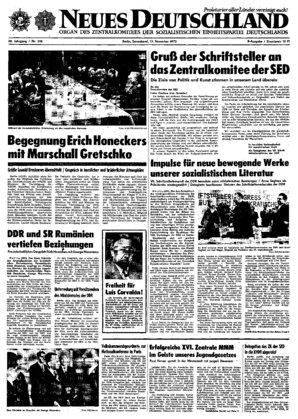 nd archiv neues deutschland vom 17 11 1973