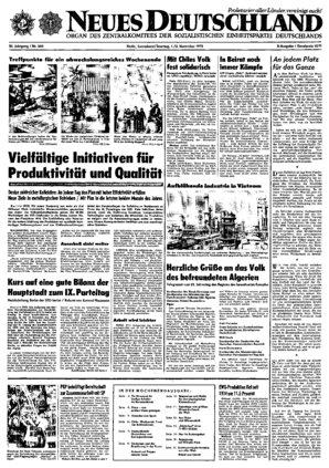 Nd Archiv Neues Deutschland Vom 01111975