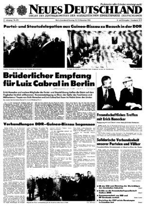 Nd Archiv Neues Deutschland Vom 13111976