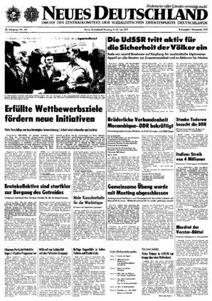 Nd Archiv Neues Deutschland Vom 09071977