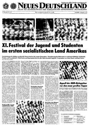 Nd Archiv Neues Deutschland Vom 29071978