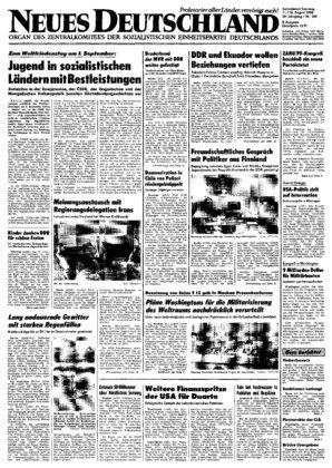 Nd Archiv Neues Deutschland Vom 11 08 1984