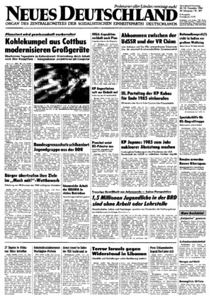 Nd Archiv Neues Deutschland Vom 29121984