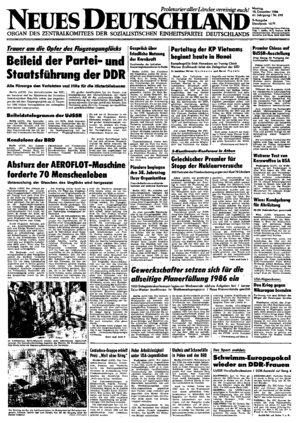 Nd Archiv Neues Deutschland Vom 15 12 1986