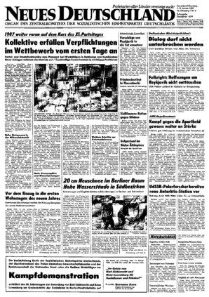 Nd Archiv Neues Deutschland Vom 03011987