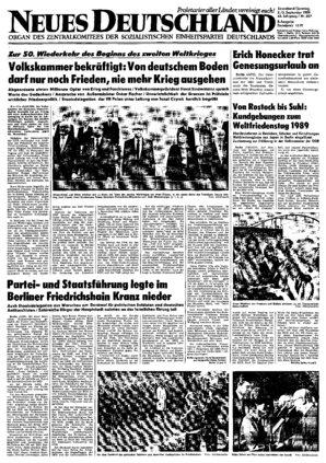 Nd Archiv Neues Deutschland Vom 02 09 1989